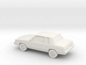 1/87 1983 Dodge Aries  SR  in White Strong & Flexible
