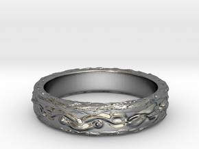 Ring of the earth(size = USA 6.5) in Polished Silver