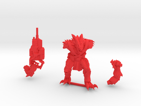 Kurgan with Autocannon in Red Strong & Flexible Polished