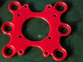 Feiyu Tech Phantom 2 Gimbal adapter plate in Red Strong & Flexible Polished