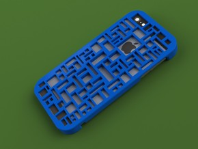 iPhone 5 Geometric Case in Blue Strong & Flexible Polished