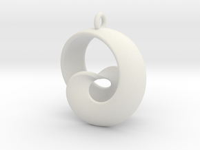 Half Mob-Tor: the half Mobius Torus Shell in White Strong & Flexible