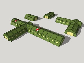6mm Military Field Hospital in White Strong & Flexible