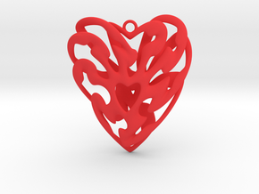 Heart Cage in Red Strong & Flexible Polished
