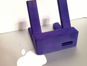 WaveGuide (an iPhone 5 Dock - 30 Degree Incline) in Black Strong & Flexible