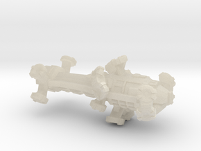 Digitorium Warp Bubble Assault Frigate in White Acrylic