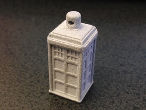 TARDIS Ornament / Charm in Blue Strong & Flexible Polished