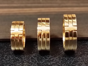 (USA) 9-1/2 Cross  - Multiple Sizes in Polished Brass