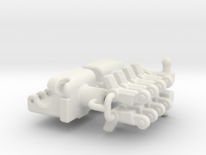 14mm Poseable Fists (5mm Peg) in White Strong & Flexible