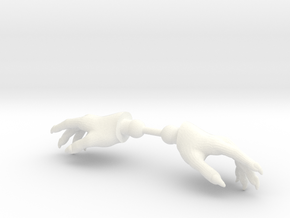 Wizard Hands Relaxed in White Strong & Flexible Polished