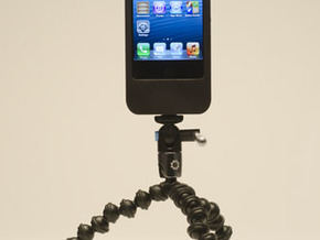 iPhone5 Camera Mount 5000mah Charger with USB Out in White Strong & Flexible