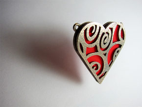 Coloured Heart in Stainless Steel