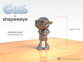 Gus Figurine - Small - Metal in Stainless Steel