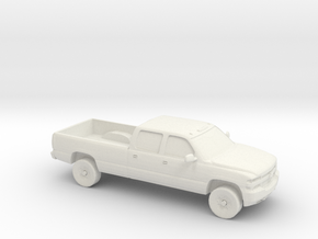 1/87 1999-02 Chevrolet Silverado Duramax Crew Long in White Strong & Flexible