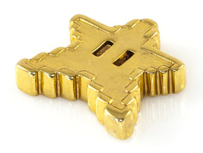 8 bit Mario Star in 18K Gold Plated