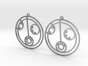 Lily - Earrings - Series 1 in Polished Silver