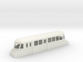 "009 bogie ""Flying Banana"" railcar with luggage com in White Strong & Flexible"