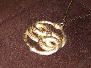 THE NEVERENDING STORY THE AURYN MEDALLION PENDANT in Polished Gold Steel