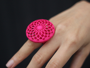 SACRED CIRCLE RING Small in Red Strong & Flexible Polished