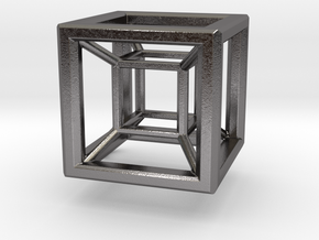 HYPERCUBE (standard) in Polished Nickel Steel
