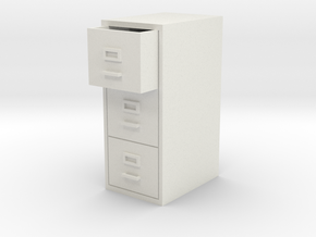 Single Filing Cabinet in White Strong & Flexible