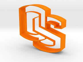 Oregon State OS logo Cookie Cutter in Orange Strong & Flexible Polished