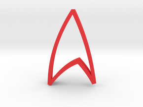 Star Trek Emblem - Cookie Cutter in Red Strong & Flexible Polished