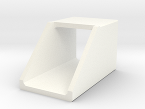 N/H0 Box Culvert Headwall (size 1) in White Strong & Flexible Polished