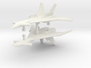 1/285 Mikoyan MiG-31 (Firefox) (x2) in White Strong & Flexible