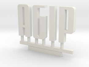 Agip Logo 1:160 in White Strong & Flexible