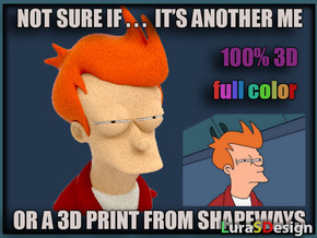 Not Sure Fry - Meme in Full Color Sandstone