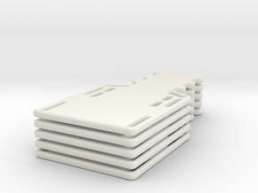 1/24 scale spine board set (5) in White Strong & Flexible