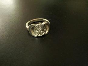 Hecate ring sizes 11 in Polished Silver