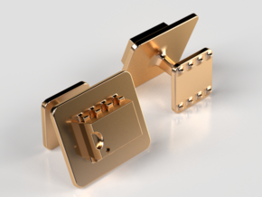 555 Timer Cufflinks in 14K Gold
