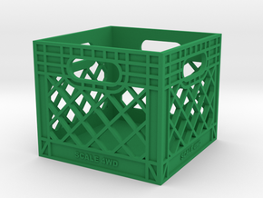 Milk Crate 1:6 Scale in Green Strong & Flexible Polished