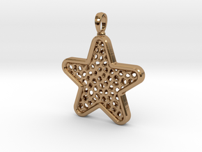 Pendant Little Star in Polished Brass