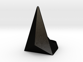 Golden Ratio Triangle Ring: Sz7 in Matte Black Steel