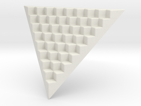 Pyramid Base for 12mm Dice (8 per edge) in White Strong & Flexible