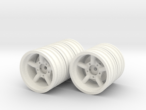 Mach5 1.9 wheels with 12mm hex hubs in White Strong & Flexible Polished