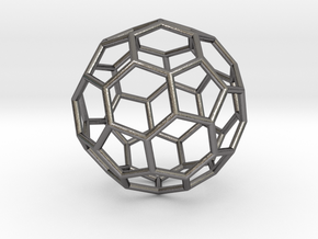 0024 Fullerene c60-ih Bonds/Truncated icosahedron in Polished Nickel Steel