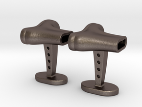 Boots cufflinks in Stainless Steel