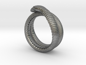 Snake Ring (various sizes) in Polished Silver