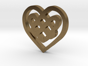 Celtic Heart Knot in Raw Bronze