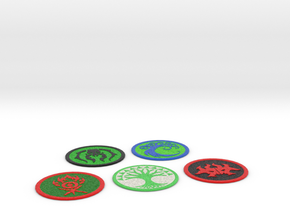 Ravnica Coasters 2 in Full Color Sandstone