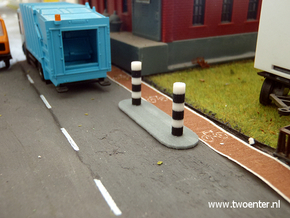 [1st] Verkeerszuil eiland 1:87 (H0) in Full Color Sandstone