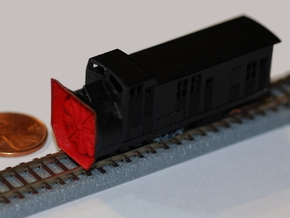Railroad Snow Plow - Zscale in Frosted Ultra Detail