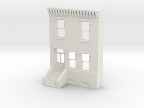 S SCALE ROW HOME FRONT 2S in White Strong & Flexible