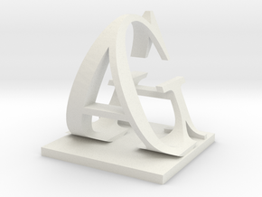 Two way letter / initial G&A XXL in White Strong & Flexible
