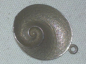Spiral Pendant (QIV_g2) in Stainless Steel