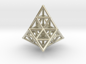 20 TETRAHEDRONS (pendant) in 14k White Gold